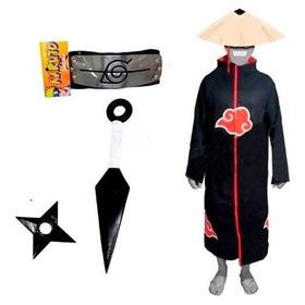 Cosplay Manto Akatsuki Itachi Kunai Naruto Shuriken A16