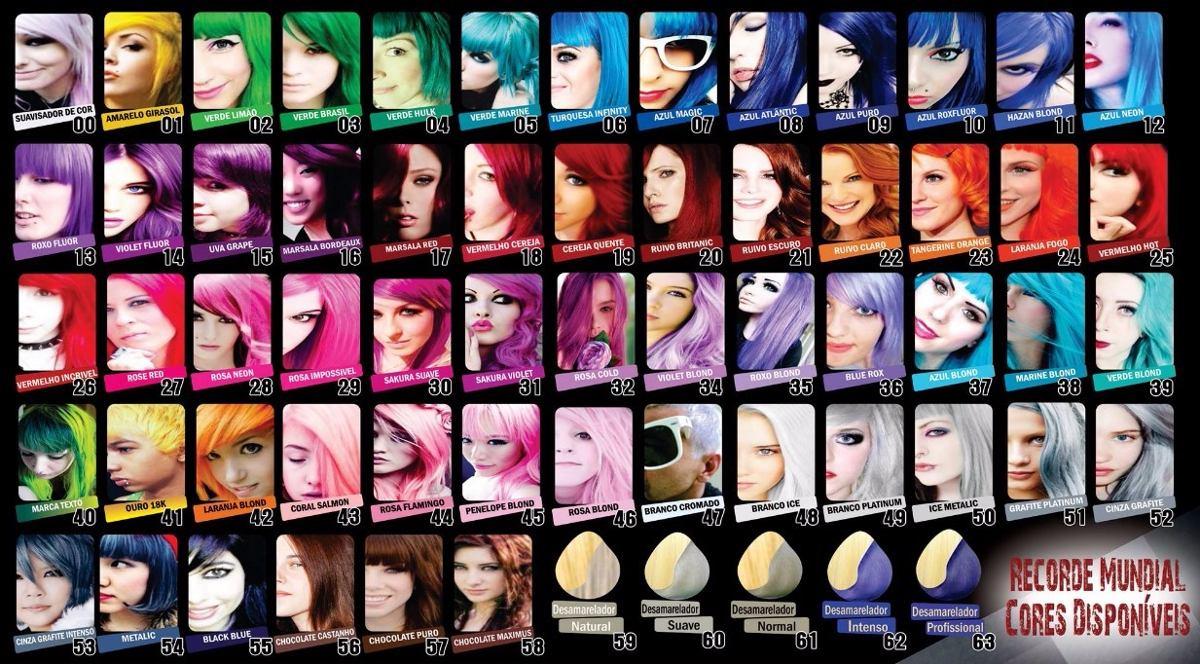 cosplay tintas exotic colors criativ para cabelos - r$ 22,80 em