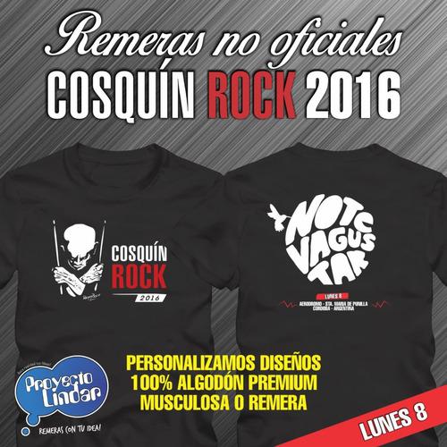 cosquin rock 2016 - remeras y musculosas algodon premium