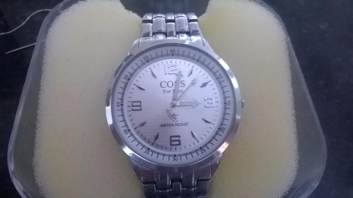 4485756d1da coss relógio original pulseira inox ponteiros luminescentes. Carregando zoom .