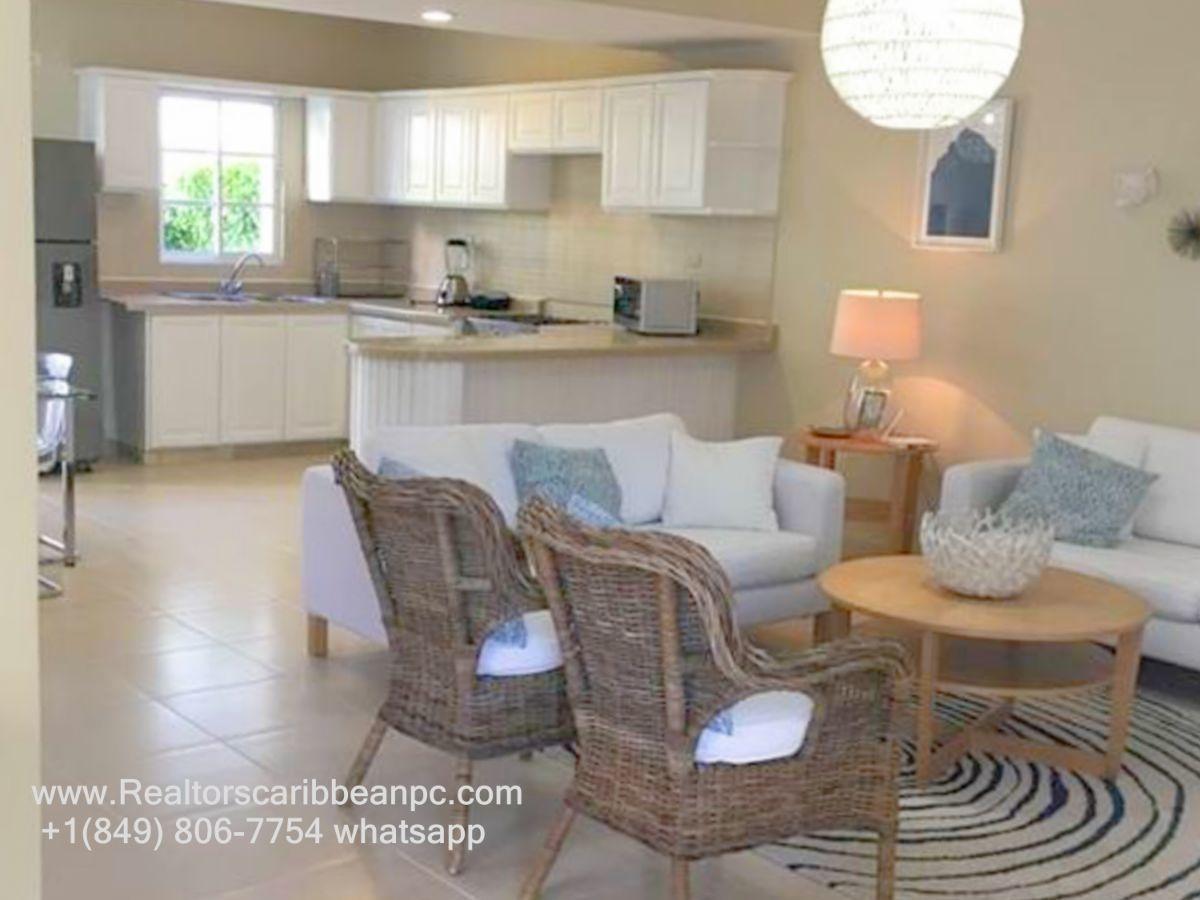 costa  bavaro  villa  cozy duplex  5 to the beach