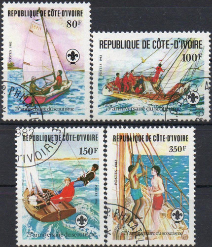 costa do marfim - escotismo - 1982 - s/completa
