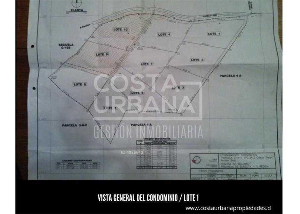 costa urbana parcela 5.000 m2 en condominio rautén, quillota