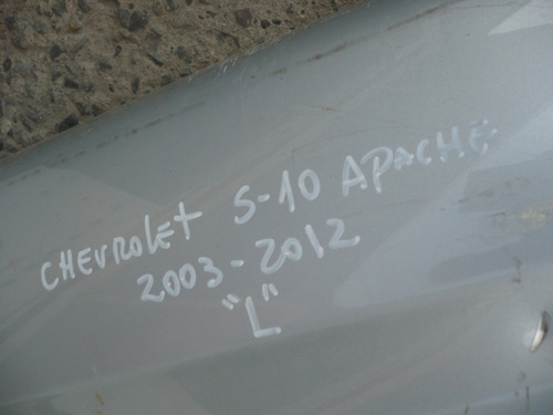 costado s10 apache 2009  trs izq detalles - lea descripción