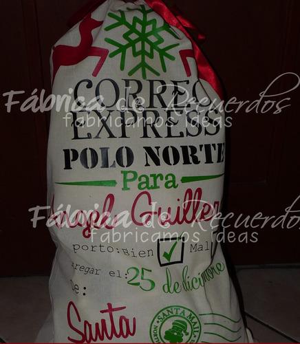 costal navideño personalizado para tus regalos- envío gratis
