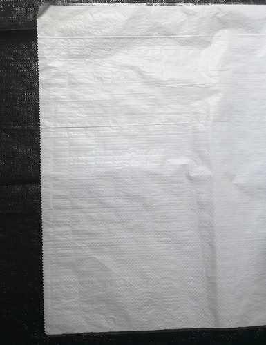 costal pesquero - blanco laminado - bola roja 28 x43  120gr