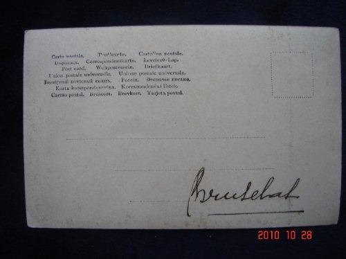 costumbrista, año 1907  antigua postal.