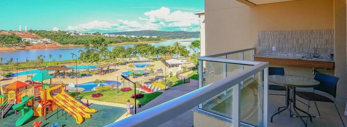 cota ilhas do lago - eco resort apartamento 1 quarto