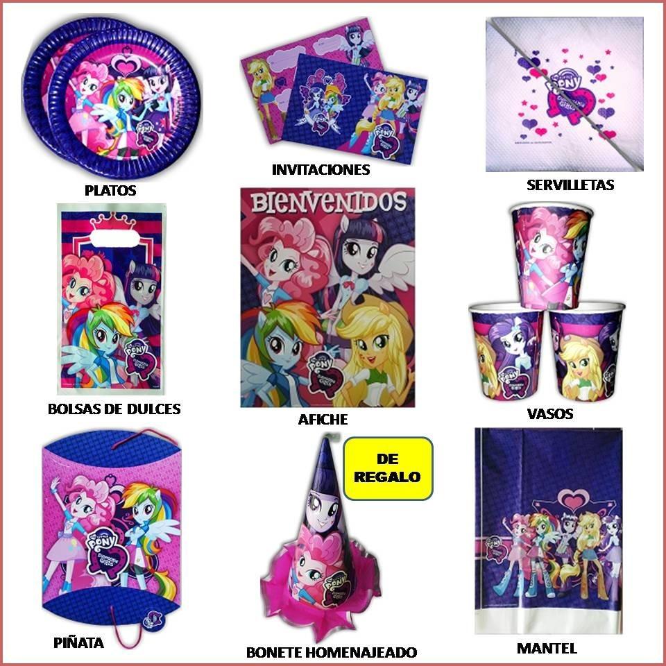 Cotillón Equestria Girls My Little Pony 20 Chicos Servilleta