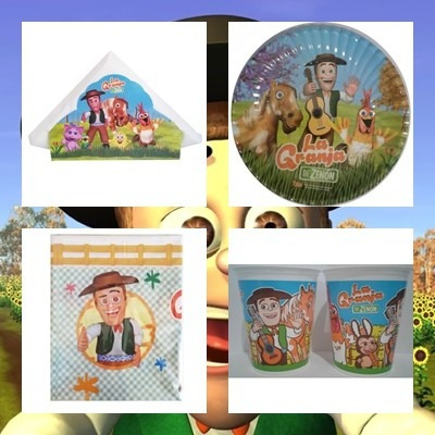 cotillon la granja de zenon 30 chicos envio gratis + regalos