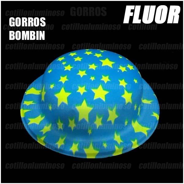 417ce3d9850f6 cotillon luminos sombreros gorros · 6 sombreros gorros bombin fluor  carnaval cotillon luminos