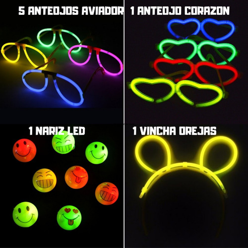 cotillon luminoso fluo
