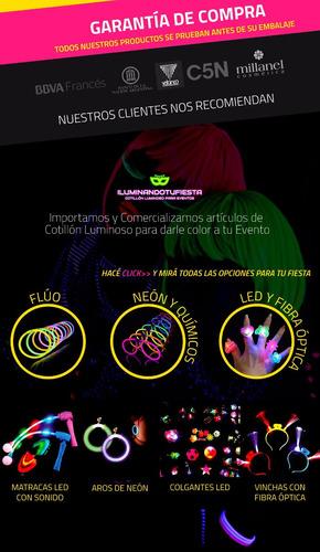 cotillón luminoso flúo