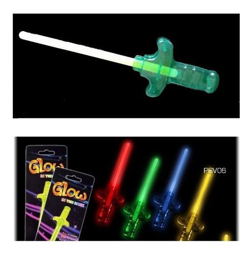 cotillón luminoso varitas neón modelo espada x 35 unidades