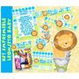 Kit Imprimible Baby Shower Niño Leoncito Comunión Cumpleaños
