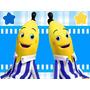 Kit Imprimible Bananas En Pijamas Diseñá Tarjetas Cumples