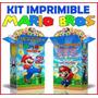 2 X 1 Kit Imprimible Mario Bros Recuerdos, Cumples, Tarjeta