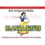 Kit Imprimible 2 Candy Bar Blanca Nieves Cotillon Tarjetas