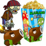 Kit Imprimible Plantas Vs Zombies + Candy Bar Fiesta