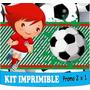 2 X 1 Kit Imprimible Futbol Diseñá Tarjetas , Cumples Y Mas