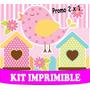 2 X 1 Kit Imprimible Pajaritos Nena Diseña Tarjetas Y Mas