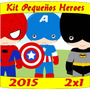 2x1 Kit Imprimible Pequeños Super Heroes Candy Bar Tarjetas