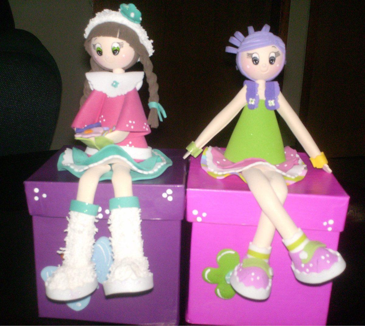 cotillones para niñas con muñecas de foami bs 1 500 00 en mercado