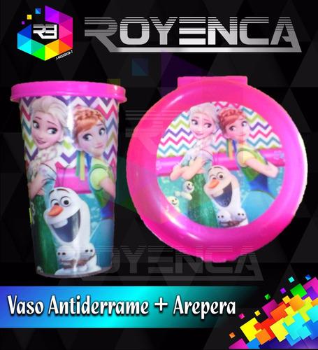 cotillones personalizados combo arepera + vaso con tapa  pop