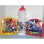 Mario Bros, Toy Story, Sandwichera + Cooler, Combo Cotillón