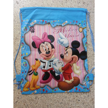 Bolso/morralito Princesas,minnie Y Mickey Mouse Y Dora.