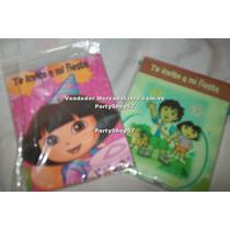 Tarjeta Invitacion Fiesta Dora Diego Princesa Backyardigan