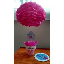 Topiarios Centros De Mesa Baby Shower Cumpleaños Bautizo