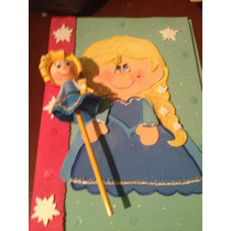 Lapiz De Princesas En Foami Para Fiestas Cotillones