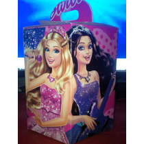Cotillones Infantiles De Barbie Pop Y Rock Hexagonales