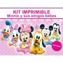 Kit Imprimible Minnie Bebé Llevás 2 Kits Paga 1+ Regalos