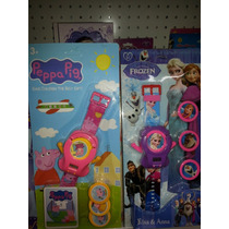 Reloj Digital Trasnformer Peppa Pig Frozen Princesa Sofia