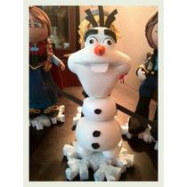 Centro De Mesa Frozen Elsa Ann Muñeca En Foami Fofucha 3d