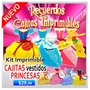 Kit Imprimible Cajitas Vestidos Princesas De Gala Grandes
