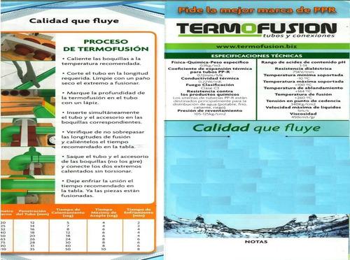 cotizamos al mayor tuberia termofusion ppr y ferreteria