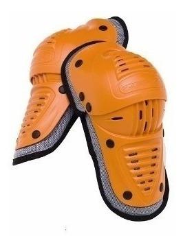 cotoveleira zero7 - idg1 - laranja - motocross trilha p/m