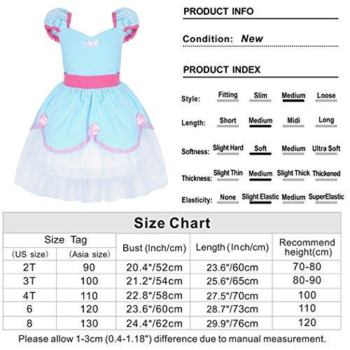 1e91981fa5f2 Cotrio Little Girls Cinderella Princess Dress Up Costume Tul ...