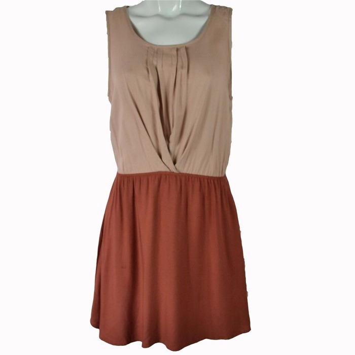 Cotton On  Vestido BiColor Café S Msrp  650