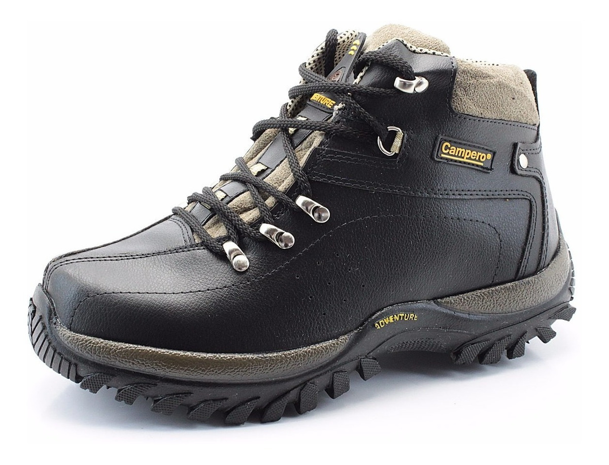 3584089e730fc coturno adventure couro sintético preto bota masculino tênis. Carregando  zoom.