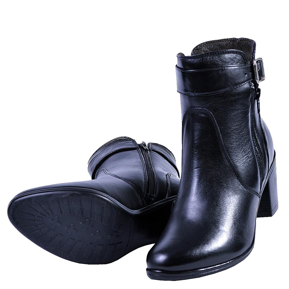 6a095cb6b coturno baixo feminino bota couro preto e marrom 243. Carregando zoom.