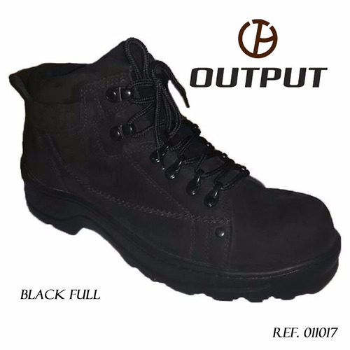 coturno black full output boots