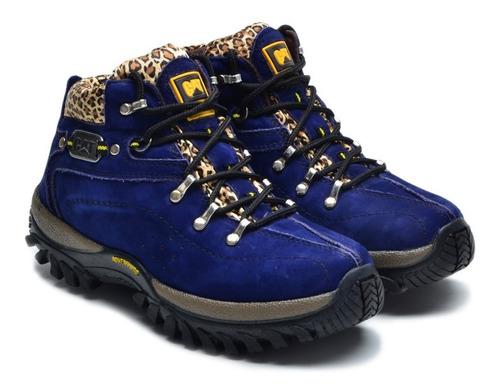 coturno bota caminhada feminino 100% couro direto da fabrica
