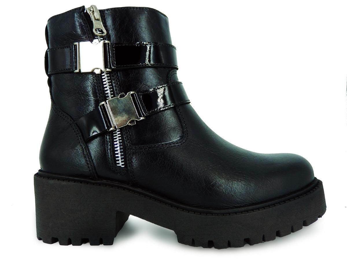 8e1423c8c coturno bota casual feminina em couro legítimo tratorada ... Carregando zoom .
