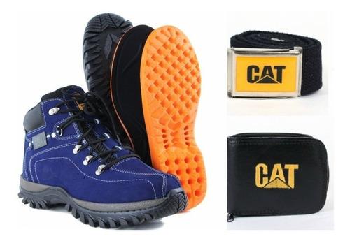 coturno bota caterpillar adventure original + kit de brindes