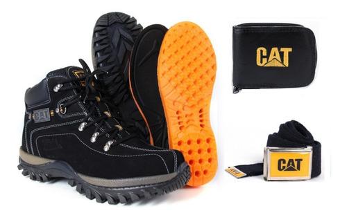 coturno bota caterpillar original + kit brinde frete grátis