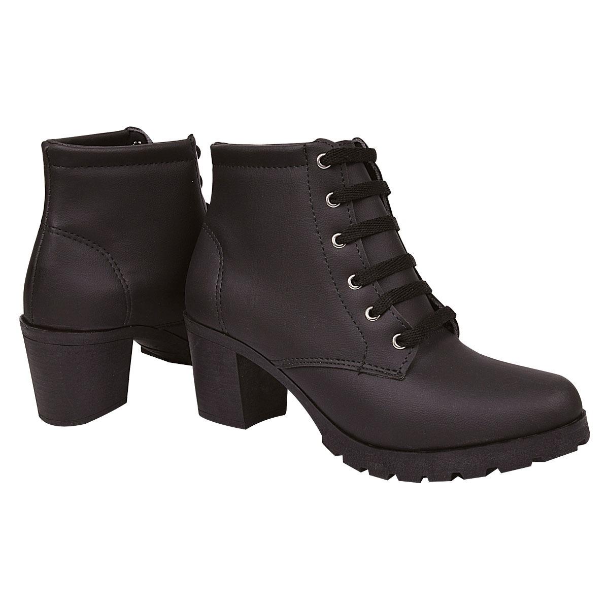 74acbfb0214e6 bota feminina cano curto couro verniz preto 2018 promoção carregando .